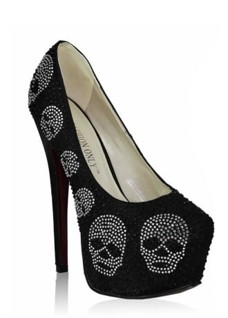 Diamante Skull Stiletto Platform