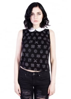 Esoteric 3/4 Crop Top