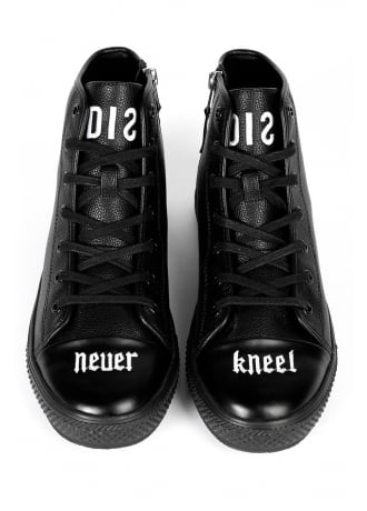 Disturbia Never Kneel Vegan Leather Sneakers