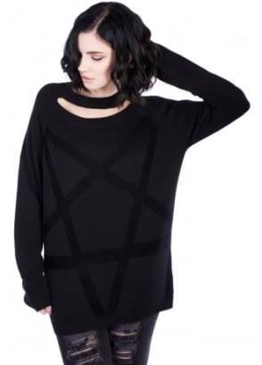 Pentagram Cable Knit Jumper