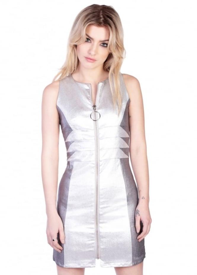 Disturbia Silver Barbarella Dress