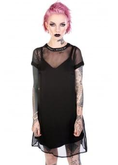 Winona Sheer Layered Slip Dress