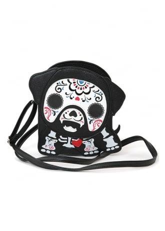 Dog Tattooed Skeleton Shoulder Bag