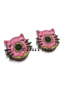Cat Donut Earrings