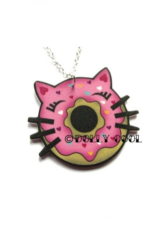 Dolly Cool Cat Donut Necklace