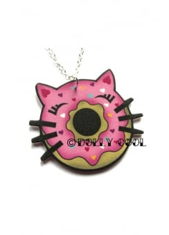 Cat Donut Necklace