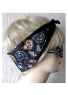 Kitty Sugar Skull Hair Tie