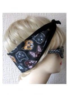 Kitty Sugar Skull Hair Tie
