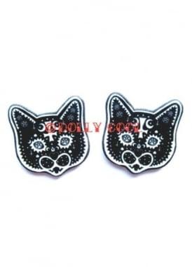 Occult Cat Earrings