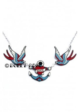 Swallow & Ahoy Anchor Necklace