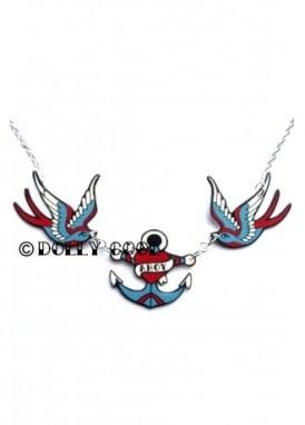 Swallow & Ahoy Anchor Necklace