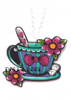 Tattoo Teacup Necklace