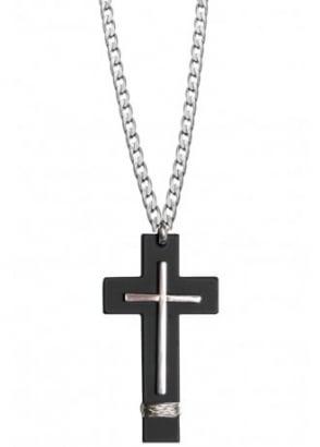Double Cross Necklace
