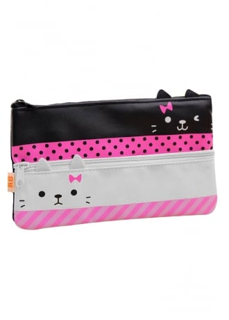 Double Kitty Pencil Case