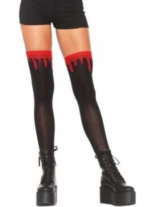 Dripping Blood Knee Socks