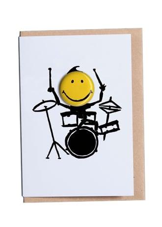 Drummer Happy Days Greetings Card