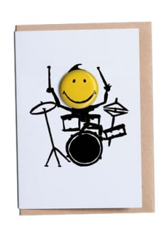 Drummer Happy Days Greetings Card