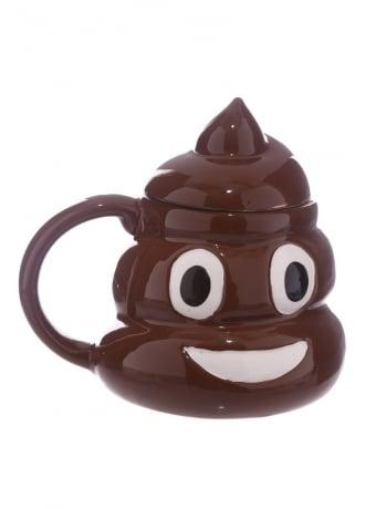 Emoji Poop Lid Mug