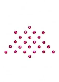 24 Pink Crystal Dot Bindis