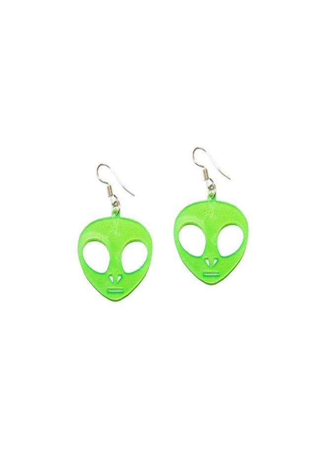 Extreme Largeness Alien UV Earrings