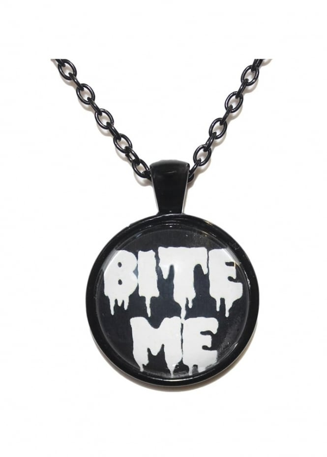 Extreme Largeness Bite Me Black Chain Necklace