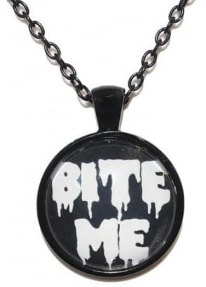 Bite Me Black Chain Necklace