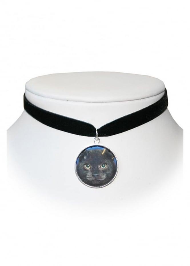 Extreme Largeness Black Cat Velvet Choker