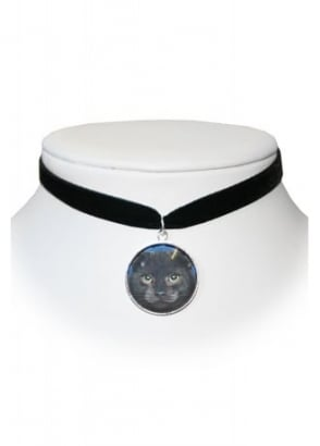 Black Cat Velvet Choker