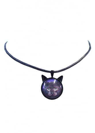 Extreme Largeness Cat Cabochon Cord Choker