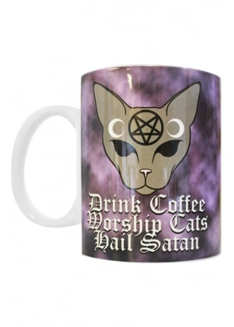 Extreme Largeness Coffee Cats Satan Mug