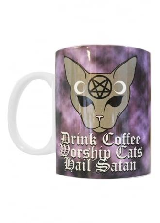 Extreme Largeness Coffee Cats Satan Mug
