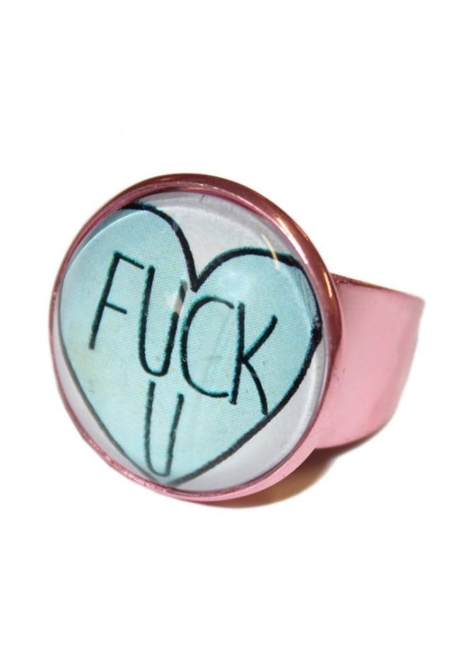 Extreme Largeness F**k You Heart Ring