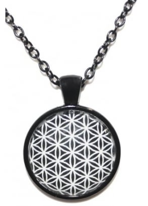 Flower Of Life Black Chain Necklace
