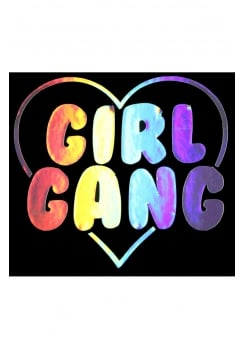 Girl Gang Holographic Sticker