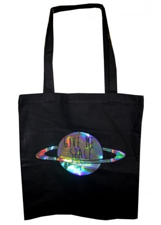 Extreme Largeness Give Me Space Hologram Tote Bag