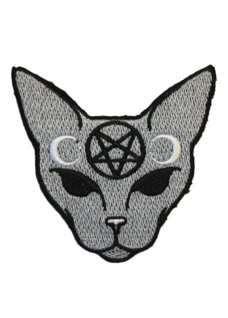 Extreme Largeness Goth Cat Patch
