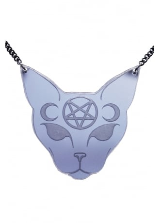 Extreme Largeness Gothic Cat Necklace