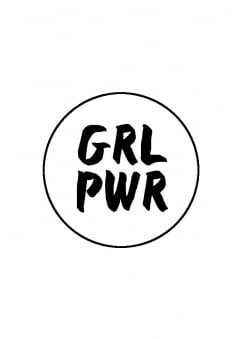 Grl Pwr Badge Button Badge