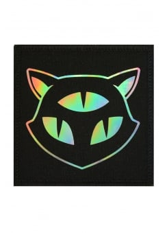 Holographic Three Eyed Cat Patch