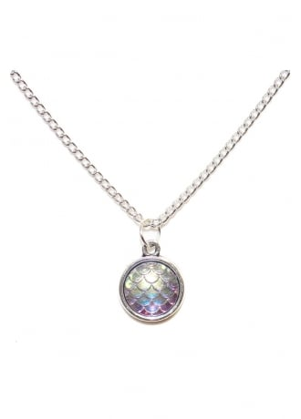 Extreme Largeness Iridescent Mermaid Scale Necklace