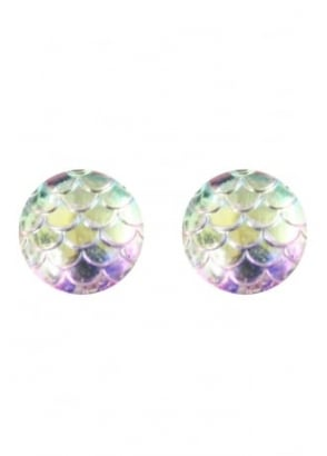 Iridescent Mermaid Scale Studs