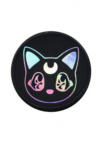 Extreme Largeness Kawaii Kitten Holographic Iron-On Woven Patch