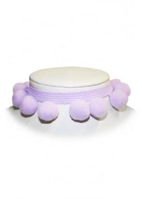 Lilac Pom Pom Choker