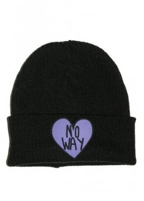 No Way Heart Patch Beanie