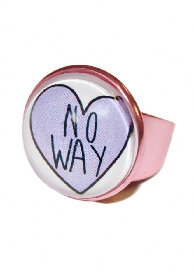 Extreme Largeness No Way Heart Ring