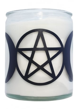 Extreme Largeness Pentagram & Moons Candle