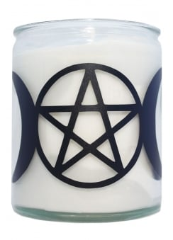 Pentagram & Moons Candle