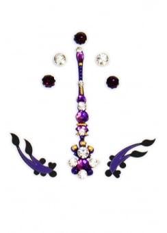 Purple Bindi & Gems Set
