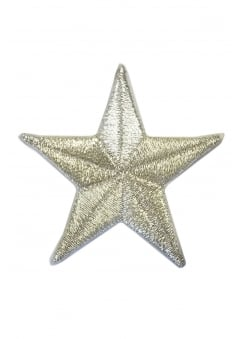 Small Silver Star Patch