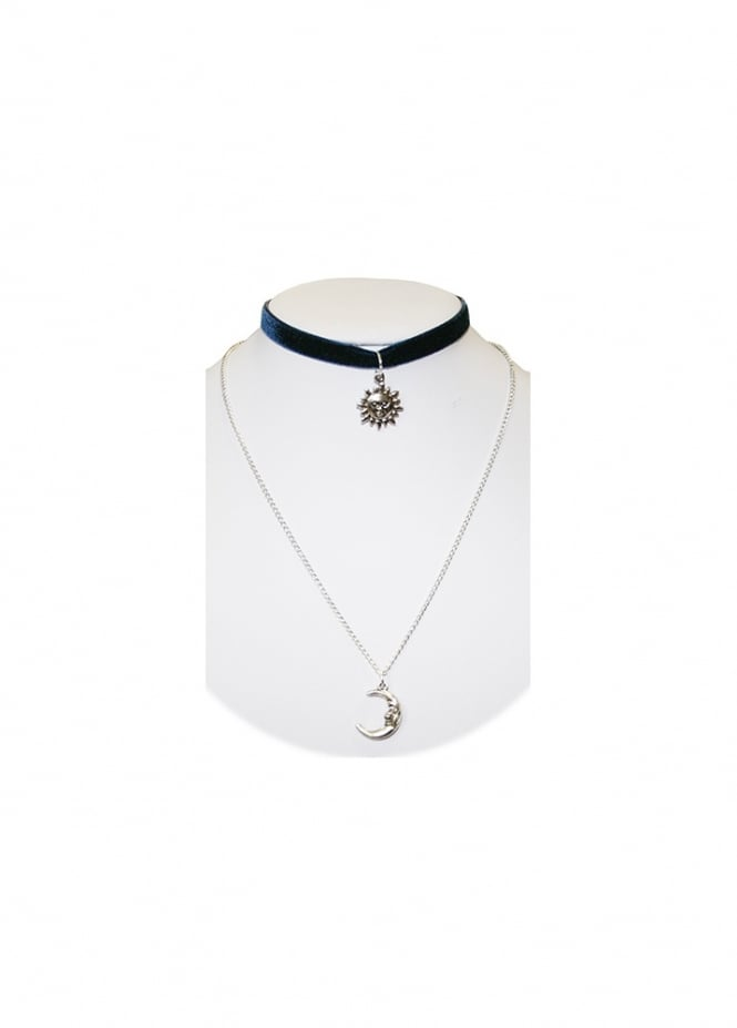 Extreme Largeness Sun & Moon Choker Necklace